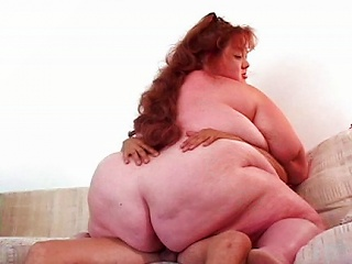 Huge Fat Chick On Cock Rides Well