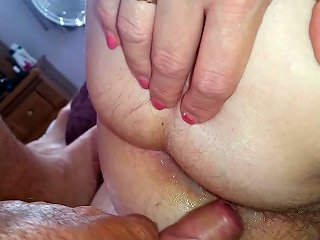 She Wouldnt Let Me Stick It In So I Cum On Hairy Asshole